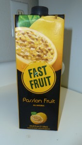Passion fruit juice by Fast Fruit; it tastes nice!