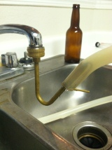Apartment Brewing Tech: Makeshift Jet Bottle Washer Water Hose