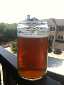 Enjoying a homebrew California Common