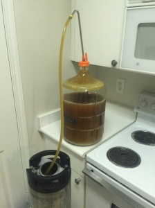Kegging the Wheat IPA