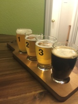 Enjoying a Homebrew Flight