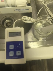 Austin source tap water ~170 ppm TDS.