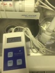 Brine water ~250 ppm TDS.